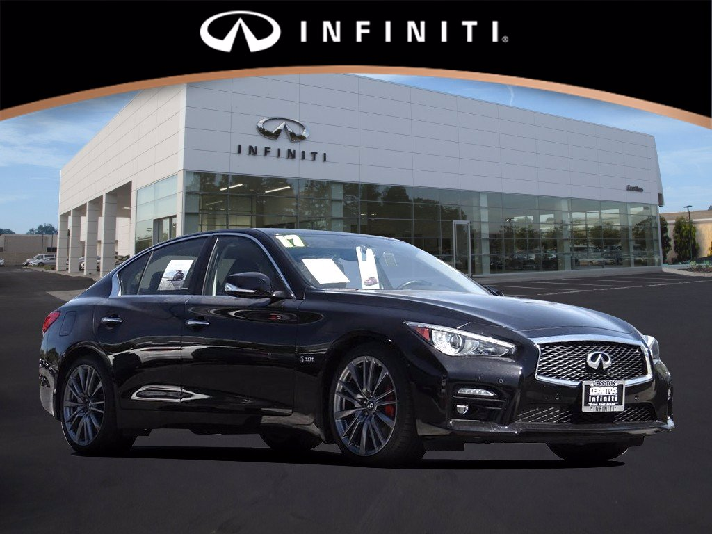 Certified Pre-Owned 2017 INFINITI Q50 Red Sport 400